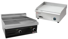 Electric frying and grill plates