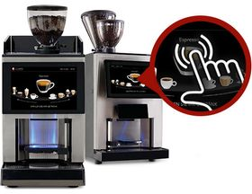 Fully automatic coffee machines with touch screens