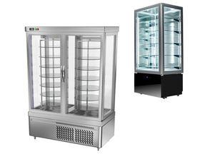 Panoramic food display cabinets