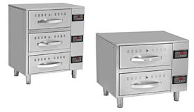 Heating-cabinets with drawers
