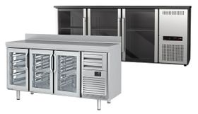 Refrigerated bar tables