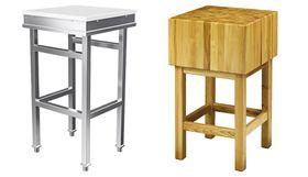 Столи з масивною стільницею / блоки масивні дерев'яні