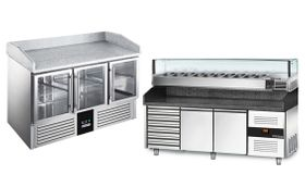 Refrigerated pizza counters