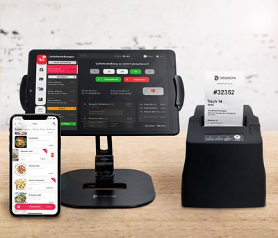 Dinenow ordering app for food - incl. tablet & printer