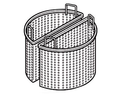 2x 1/2 Korb für Kochkessel mit 200 Liter