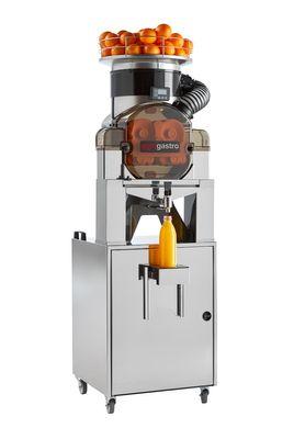 Elektrische Orangenpresse - Self-Service - Silber - mit Filter, Saftschale, Reinigungsmodus & Untergestell