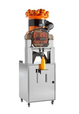 Elektrische Orangenpresse - Self-Service - Orange - mit Filter, Saftschale, Reinigungsmodus & Untergestell