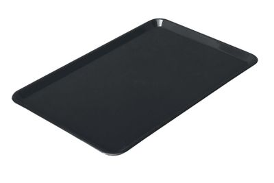 Rechteckige Präsentationsplatte - Schwarz - Eco-Line - 420 x 280 x 15 mm | Auslageplatte | Thekenschale | Kuchenplatte | Thekenplatte | Fleischplatte | Tablett | Konditoreiplatte