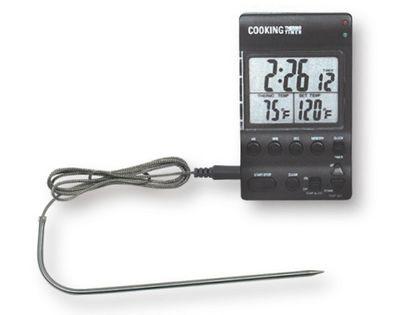 ميزان حرارة ديجيتال للطهي  مع مؤقت ,درجات الحرارة المقاسة من 0 وحتى +200 درجة
