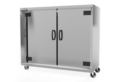 Base frame with rolls - 2 Doors