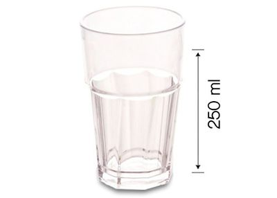 Polycarbonat Glas - 250 ml - 50er Pack