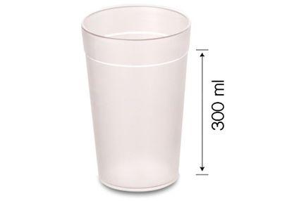 (100 Stück) Polycarbonat Milchglas - 300 ml