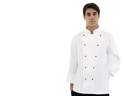 Kochjacke Chicago - weiß - langarm - Größe: XXL
