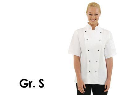 Kochjacke Chicago - weiß - kurzarm - Größe: S