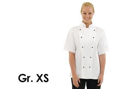 Kochjacke Chicago - weiß - kurzarm - Größe: XS