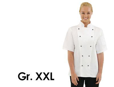 Kochjacke Chicago - weiß - kurzarm - Größe: XXL