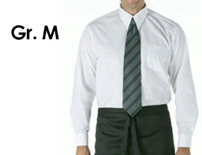 Mقميص اكمام طويلة للجنسين ابيض مقاس
