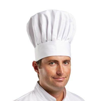 Kochmütze - weiß - Größe: S