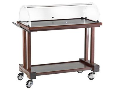 Serving trolley 0.81 m – with plexiglass dome