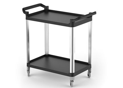 Trolley out of plastic - with 2 shelfs