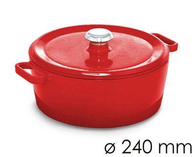 وعاء للحساء قطر 24 سم باللون الاحمر