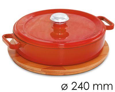 وعاء واسع للحساء قطر 24 سم باللون البرتقالي