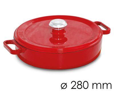 وعاء واسع للحساء قطر 28 سم باللون الاحمر