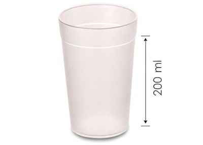 (100 Stück) Polycarbonat Milchglas - 200 ml