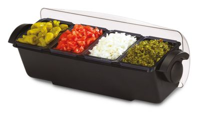 Garnish centre - 6.6 litres - with lid