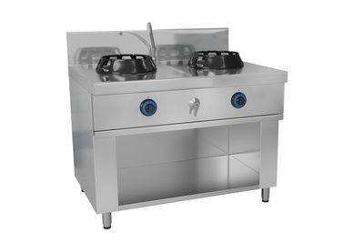 Gas wok stove - with 2 hobs - 28 kW