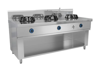 Gas wok stove - with 3 hobs - 42 kW