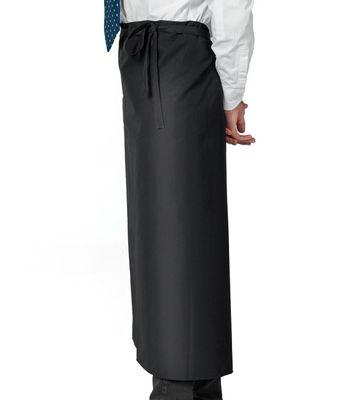 (5 Stück) Bistroschürze - Schwarz - Länge: 90 cm