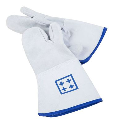 Oven gloves with 3 fingers - length: 36 cm