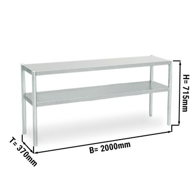 Additional table ECO 2,0 m - with 2 Floors 0,7 m height