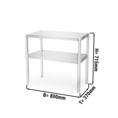 Additional table 0,8 m - with 2 Floors 0,7 m height