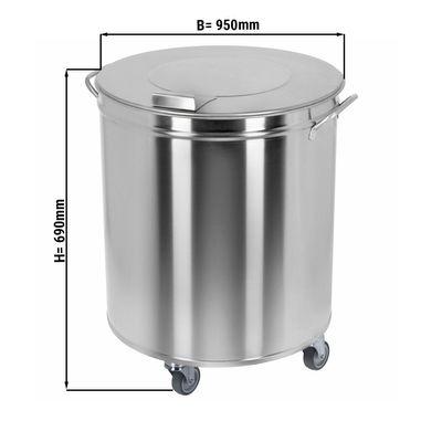 Mülleimer rund - 95 Liter - ohne Fusspedal