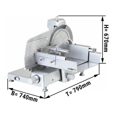 Food slicer - 260 mm - Blade Ø 370 mm