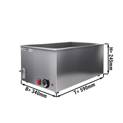 Bain Marie GN1 / 1 - 150 mm / with drain cock