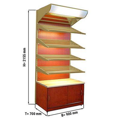 Brotregal - 0,9 x 0,7 m - Gold