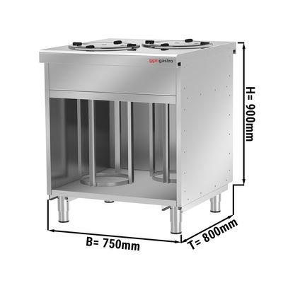 Neutral plate dispenser / 120 plates - 280 mm