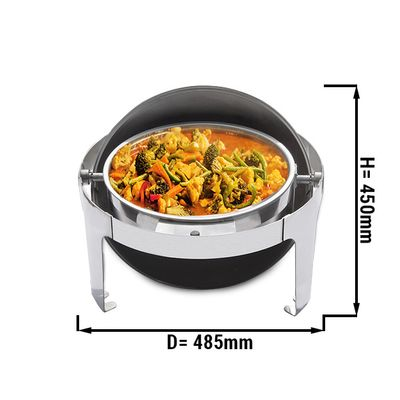 Chafing Dish Round - with roller cover