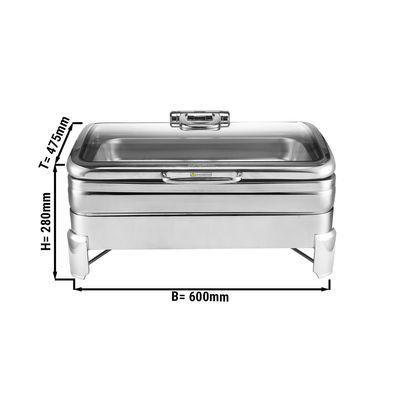 Edelstahl Chafing Dish - 11,2 Liter - GN 1/1