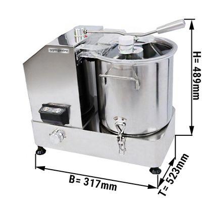 Vegetarischer Cutter - max. 12 Liter