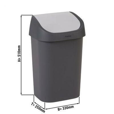 Abfalleimer mit Schwingdeckel - 25 Liter