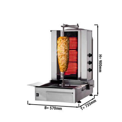 Kebab Grill 3 Burners / maximum 40 kg