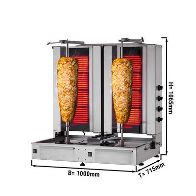 Kebab Grill 4 + 4 burner / maximum 120 kg