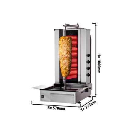 Kebab Grill 4 burners / maximum 60 kg
