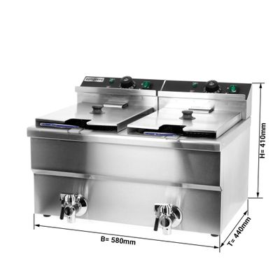 Fryer 12 + 12 liters / with drain cock