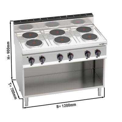 Electric stove 6x plates round (15.6 kW)