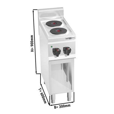 (4 kW)موقد كهربائي برأسين دائريين